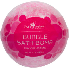 pink champagne bubble bath bomb