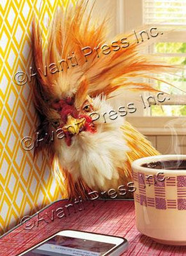 rooster hangover birthday card