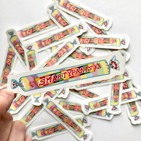 smarty pants vinyl sticker