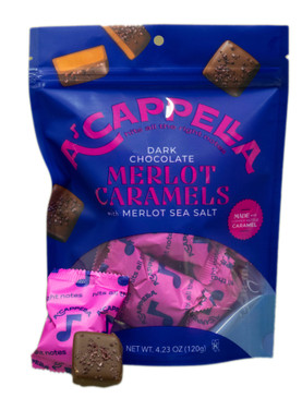 a'cappella caramels - dark chocolate merlot