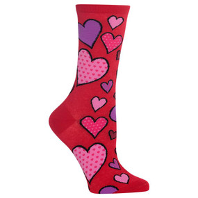 womens heart crew socks