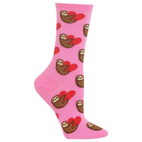 womens sloth love crew socks