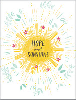 glitter hope and sunshine, encouragement, friendship