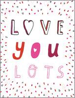 glitter love you lots | valentine's day