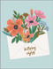 floral envelope birthday card
