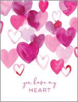 glitter magenta hearts | valentine's day