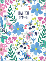 glitter garden oasis mother's day card
