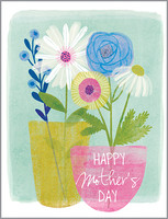 glitter pots and flowers mother's day card