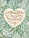 heart of greens wedding card