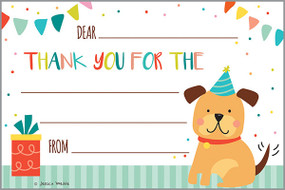 children's puppy thank you notes