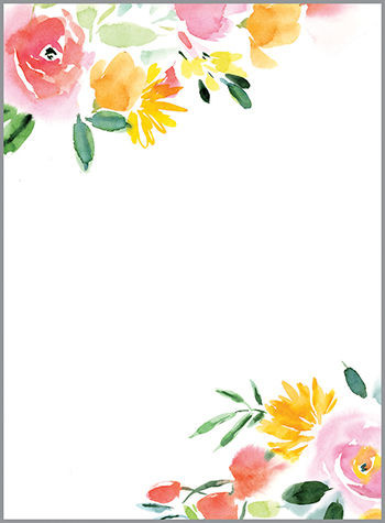 red and yellow rose memo pad