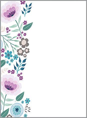 purple petals memo pad