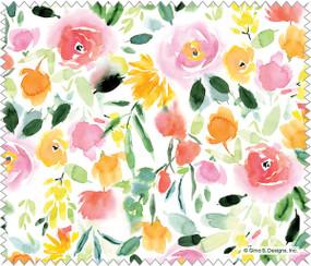 watercolor roses microfiber cloth