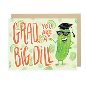 big dill graduation card