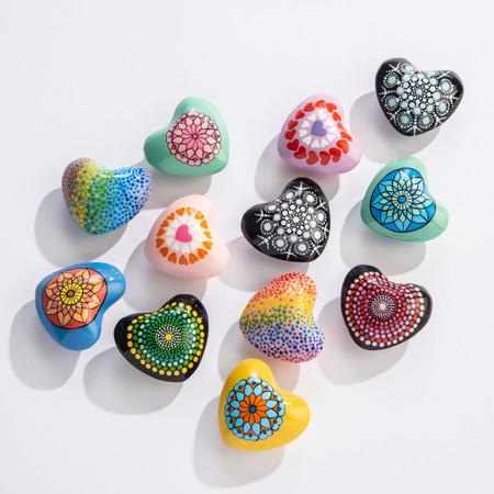 mandala charm hearts (assorted)