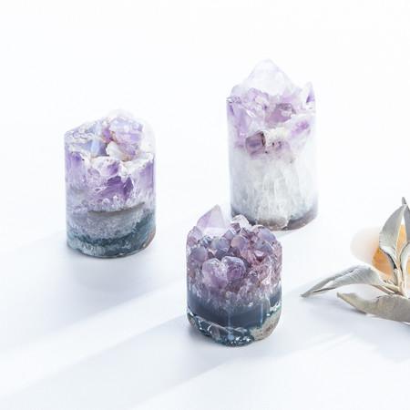 calcite amethyst crystal cupcake