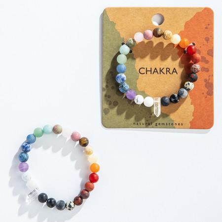 crystal point chakra bracelet