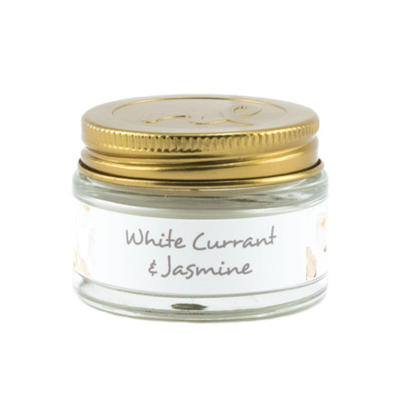 fragrance palette mini jar candle, white currant and jasmine