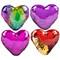 magic sequins heart pillow