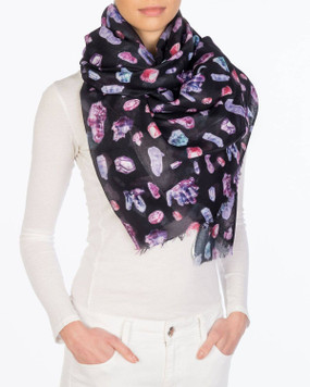 crystals black scarf