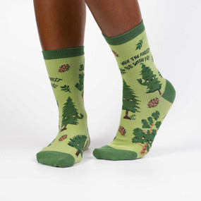 forest be with you womens crew socks