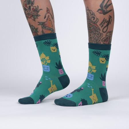 plant mom womens crew socks