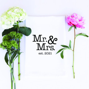mr. & mrs. est. 2021 towel