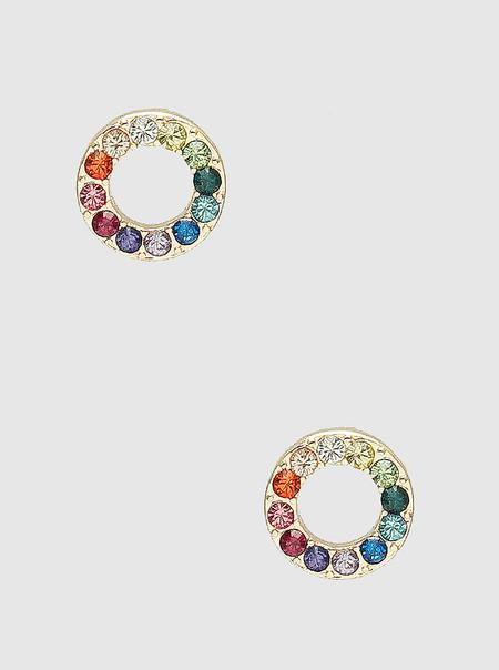 rainbow circle earrings