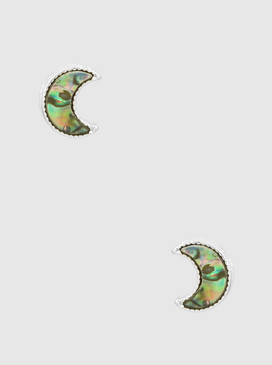 abalone moon earrings