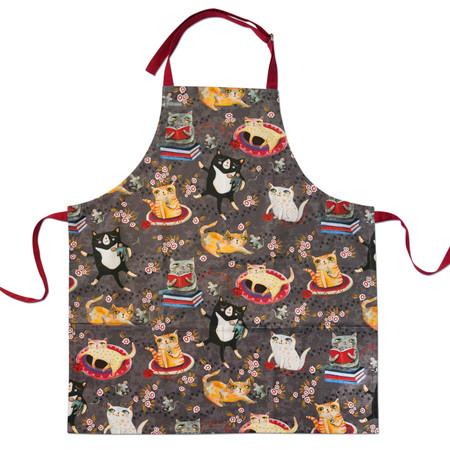 crazy cats apron