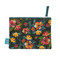 moody flowers fabric pouch
