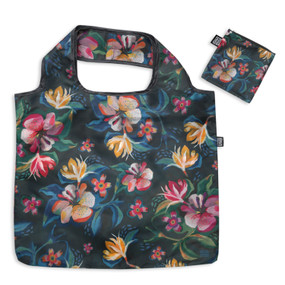 moody flowers folding bag