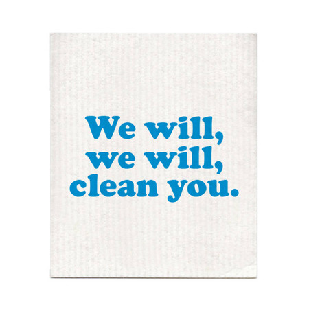 we will clean you dishcloth, Queen