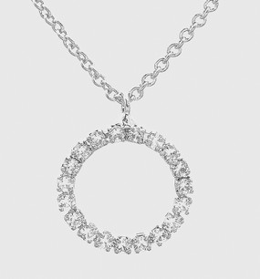 sparkle circle necklace