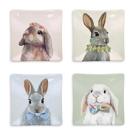 bunny brunch serveware plates, easter