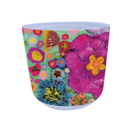 blooms on spring plant pot