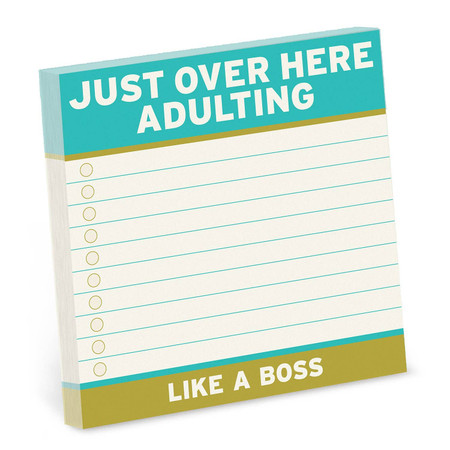 adulting large sticky notes