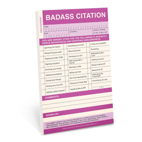 badass sticky citation pad