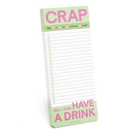 crap make a list pad