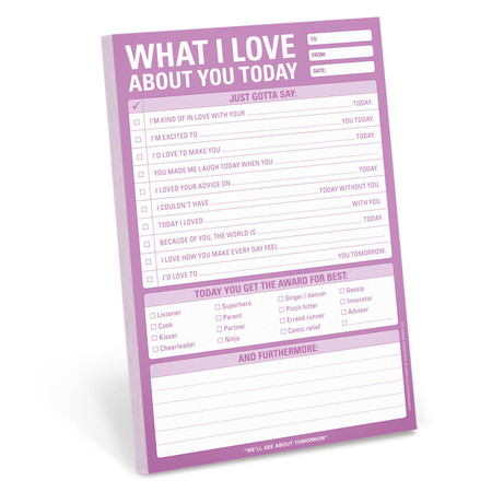 what I love about you today pad