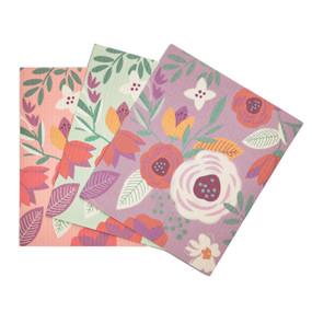floral multipurpose kitchen cloth, pink, blue, purple