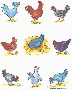 chickens flour sack towel