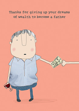 dreams of wealth father's day card