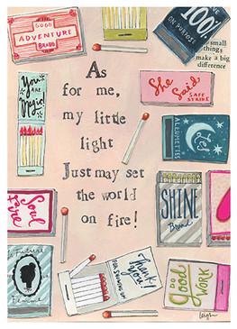 world on fire congratulations card