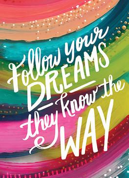 follow your dreams graduation card
