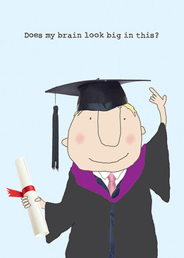 big brain boy graduation card