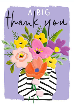 flower bouquet thank you card