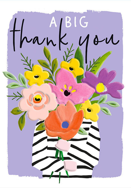 flower bouquet thank you card