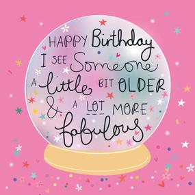 crystal ball fabulous birthday card