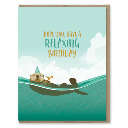 relaxing birthday card